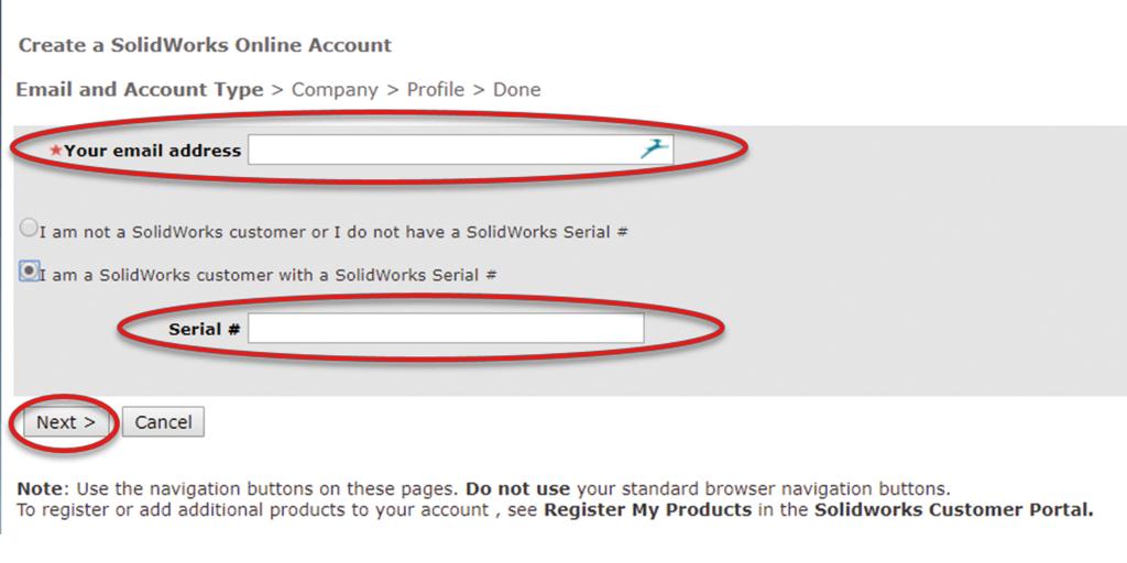 SOLIDWORKS ID Registration